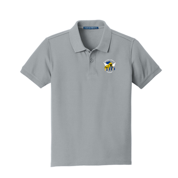 Pique Polo with Logo- Adult (Helping 4 Angels Academy)