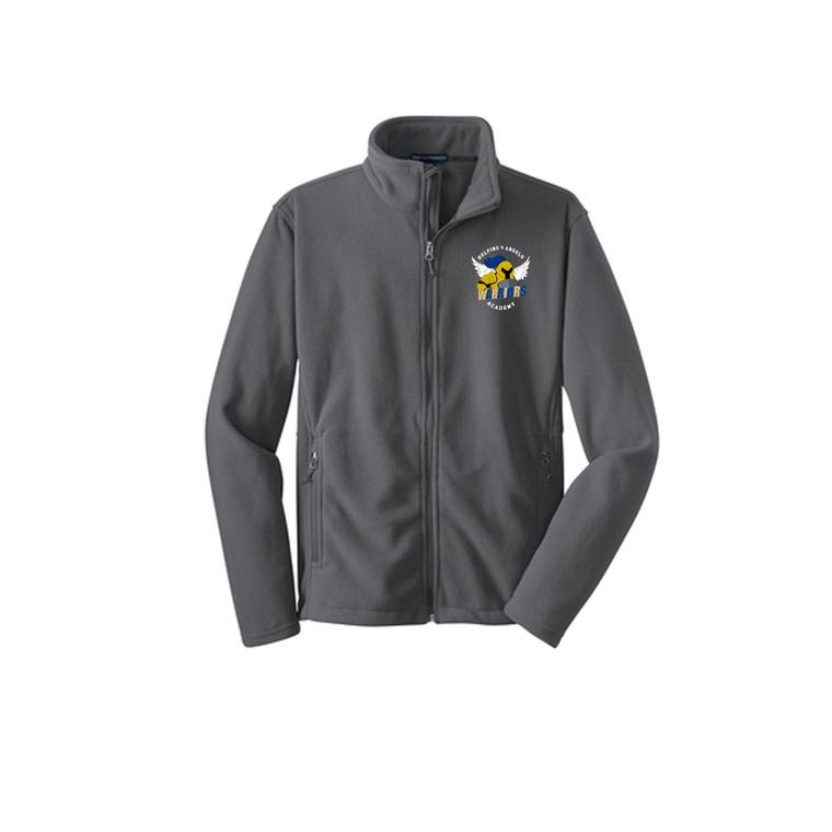 Full Zip-Up Fleece Jacket- Youth (Helping 4 Angles Academy)