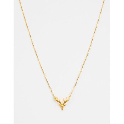 Stella & Gemma - Gold Solid Stag Head Necklace