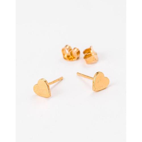 Stella & Gemma - Heart Sterling Silver/18K Gold Earrings