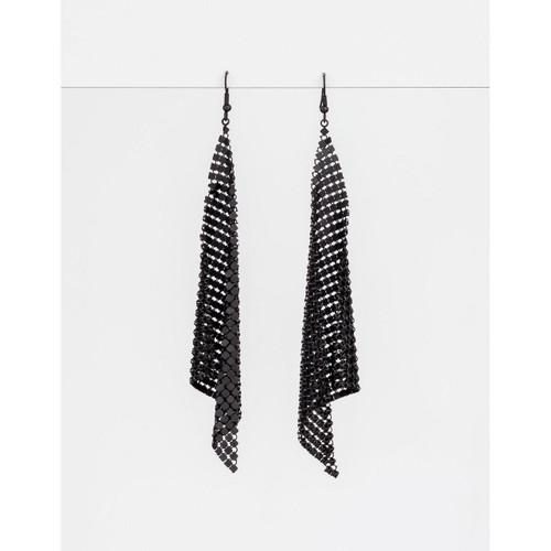 Stella & Gemma - Matt Black Glomesh Earrings