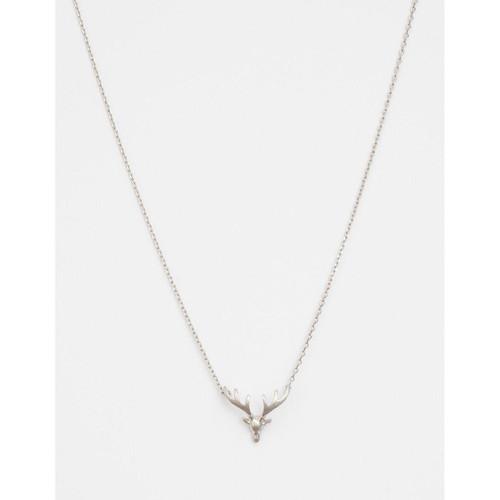 Stella & Gemma - Silver Solid Stag Head Necklace