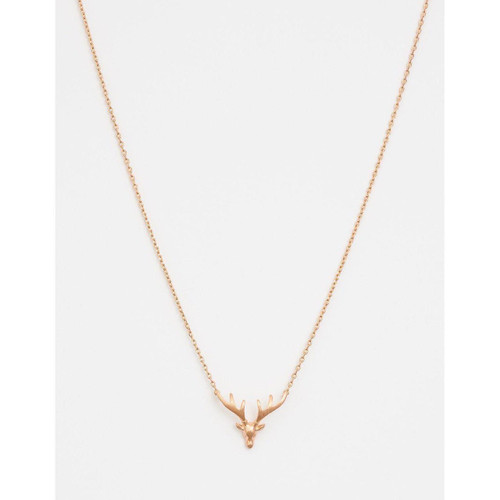 Stella & Gemma - Rose Gold Solid Stag Head Necklace