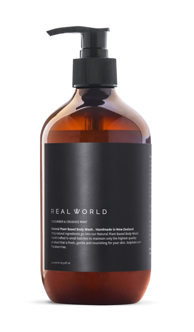 Real World Natural Body Wash - Cucumber & Crushed Mint