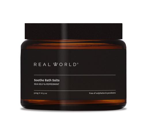 Real World Natural Soothe Bath Salts - Sea Kelp & Peppermint