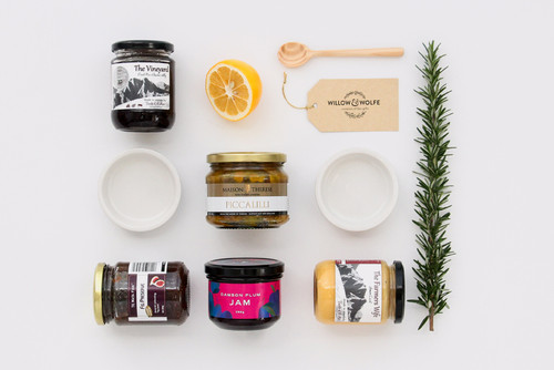 Gourmet Gift Basket NZ | Willow and Wolfe | Palatable Preserves Gift Hamper