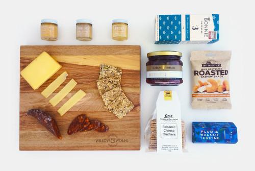 Gift Basket NZ | Willow & Wolfe | Cheese Board Gift Hamper