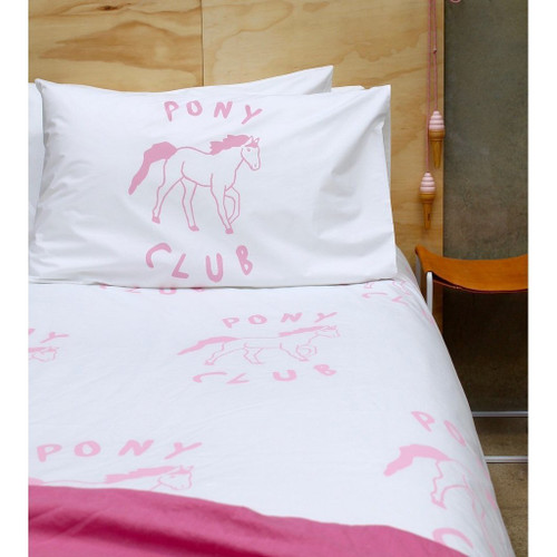 Henry and Co Backyard Kid Duvet Cover - Pink Pony Club