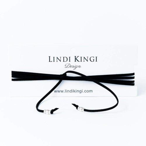 Lindi Kingi Black Suede Wrap Necklace (On Sale)