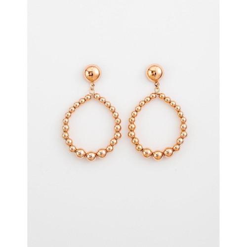 Stella & Gemma - Rose Gold Bead Hoop Earrings