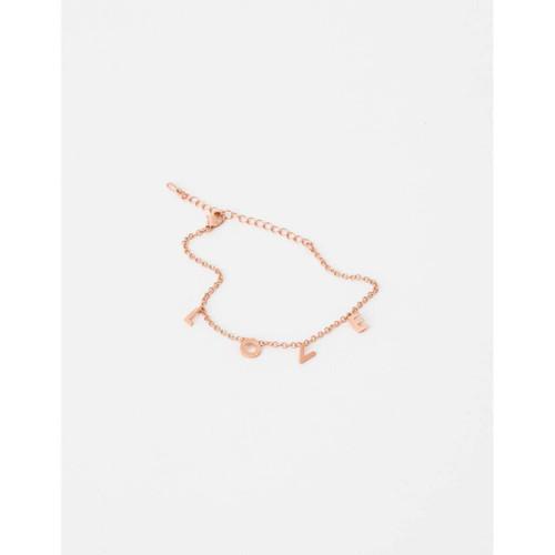 Stella & Gemma - Rose Gold L O V E Bracelet
