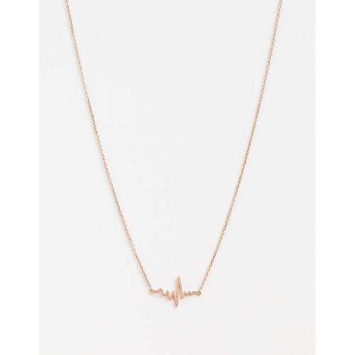 Stella & Gemma - Rose Gold You Make My Heart Beat Necklace