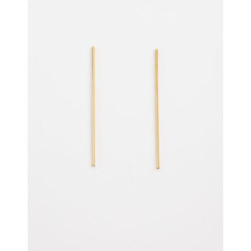 Stella & Gemma - Gold Long Bar Earrings