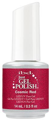 ibd just gel polish cosmic red glitter