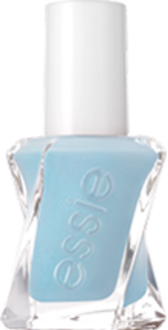 first view, blue essie gel couture nail polish