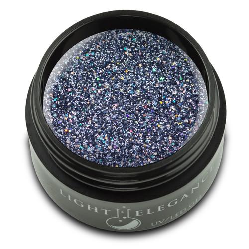 Titanium glitter that shines a bit of blue.  UV/LED Glitter Gel, Titanium, 17 ml