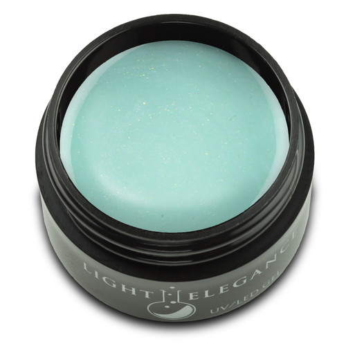 A cool, pastel mint-green that contains a hint of gold shimmer to add just the right amount of sparkle and dimension. The opaque coverage makes application smooth and easy, and this shade is one that you will fall in love with aloe-ver again each time you apply it!  You Had Me at Aloe UV/LED Color Gel, 17 ml  Coverage: Opaque Effect: Shimmer