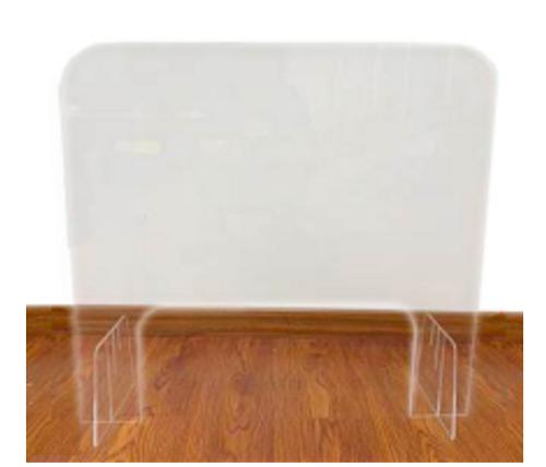 PPE acrylic desk barrier manicure table