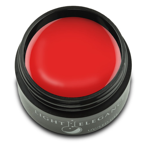 A luscious vibrant red-pink coral cream. This color leans more towards coral family. Bold, bright and charming for any look!  Charming Cherry UV/LED Color Gel, 17 ml  Coverage: Opaque Effect: Flat/Cream