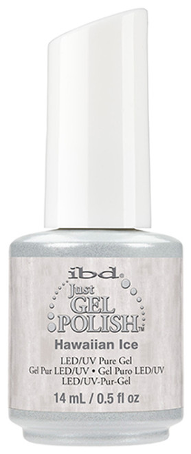Hawaiian Ice Just Gel Polish SKU: 56543 Details: Wintry White Shimmer Just Gel Polish Finish: Shimmer
