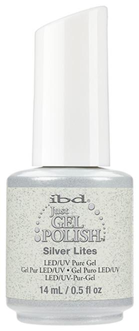 ibd just gel polish silver lites glitter
