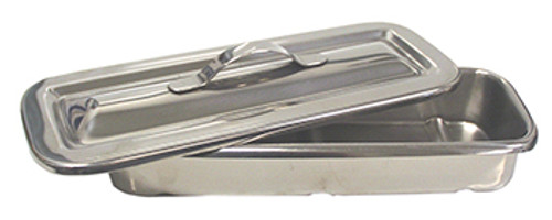NASP stainless steel disinfectant soak tray