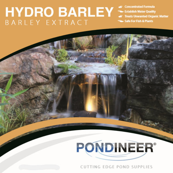 Barley Extract by Pondineer.  Available in different sizes, used for pond algae and debris