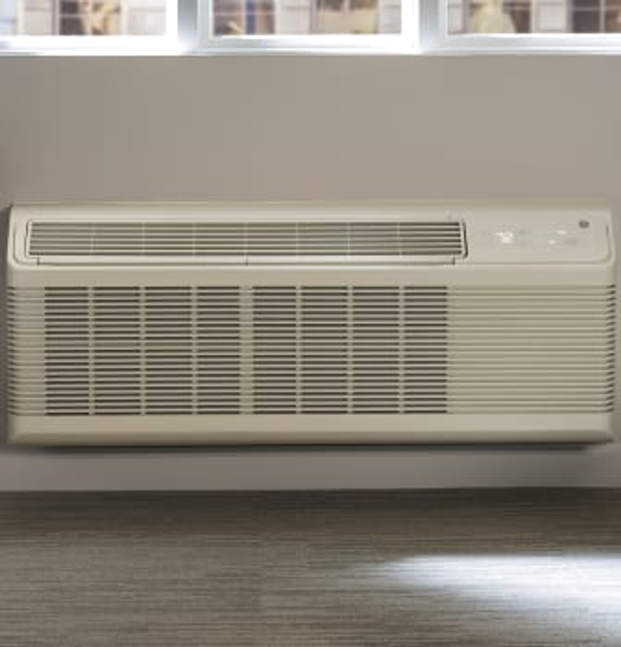 "GE Zoneline 4500 Series 42"" Packaged Terminal Air Conditioner with Electric Heat"