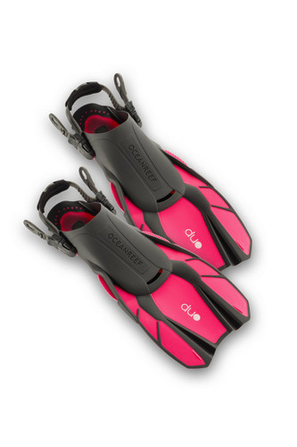 Duo - Travel Ready Fins PINK