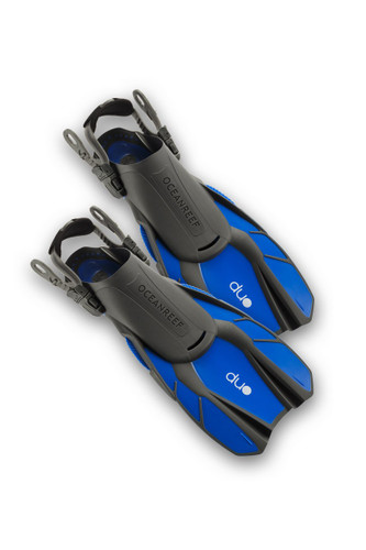 Duo - Travel Ready Fins BLUE
