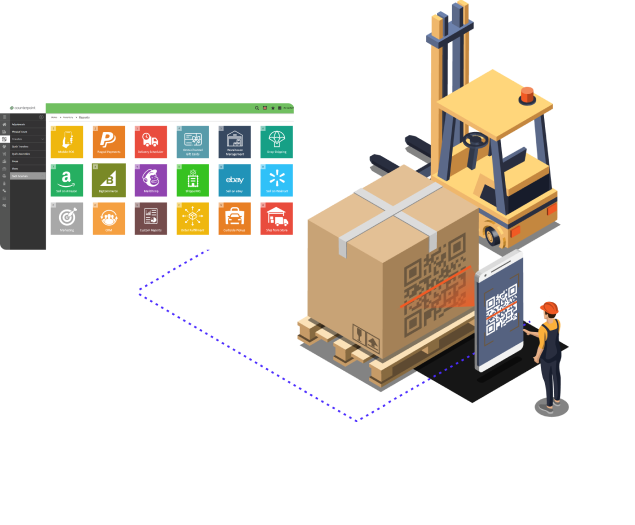 CounterPoint mobile warehouse tracking system