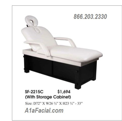 Massage Table with Cabinet