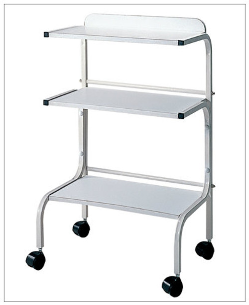 White Skincare Trolley with 3 shelves