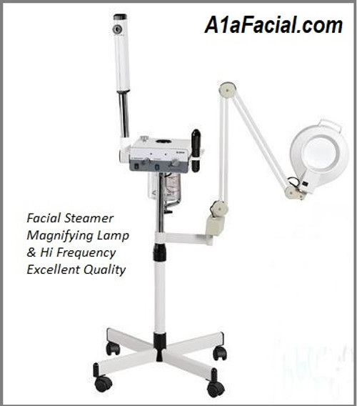 3 Function Facial Steamer, Magnifying Lamp and  Hi Frequency.