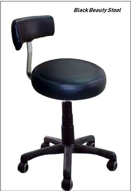 Black Beauty Stool Adjustable Height 19 3/4 - 28 3/4
