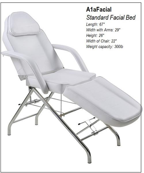 Facial Bed Chrome Base
