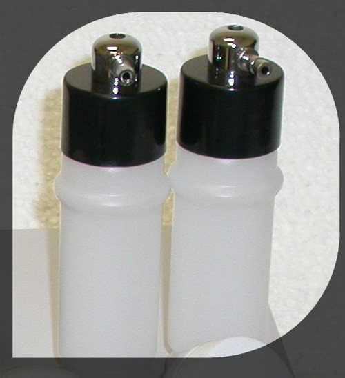 Set of 2 Spray Bottles: only plug one into the Spray Hose... Not the Vacuum Hose!