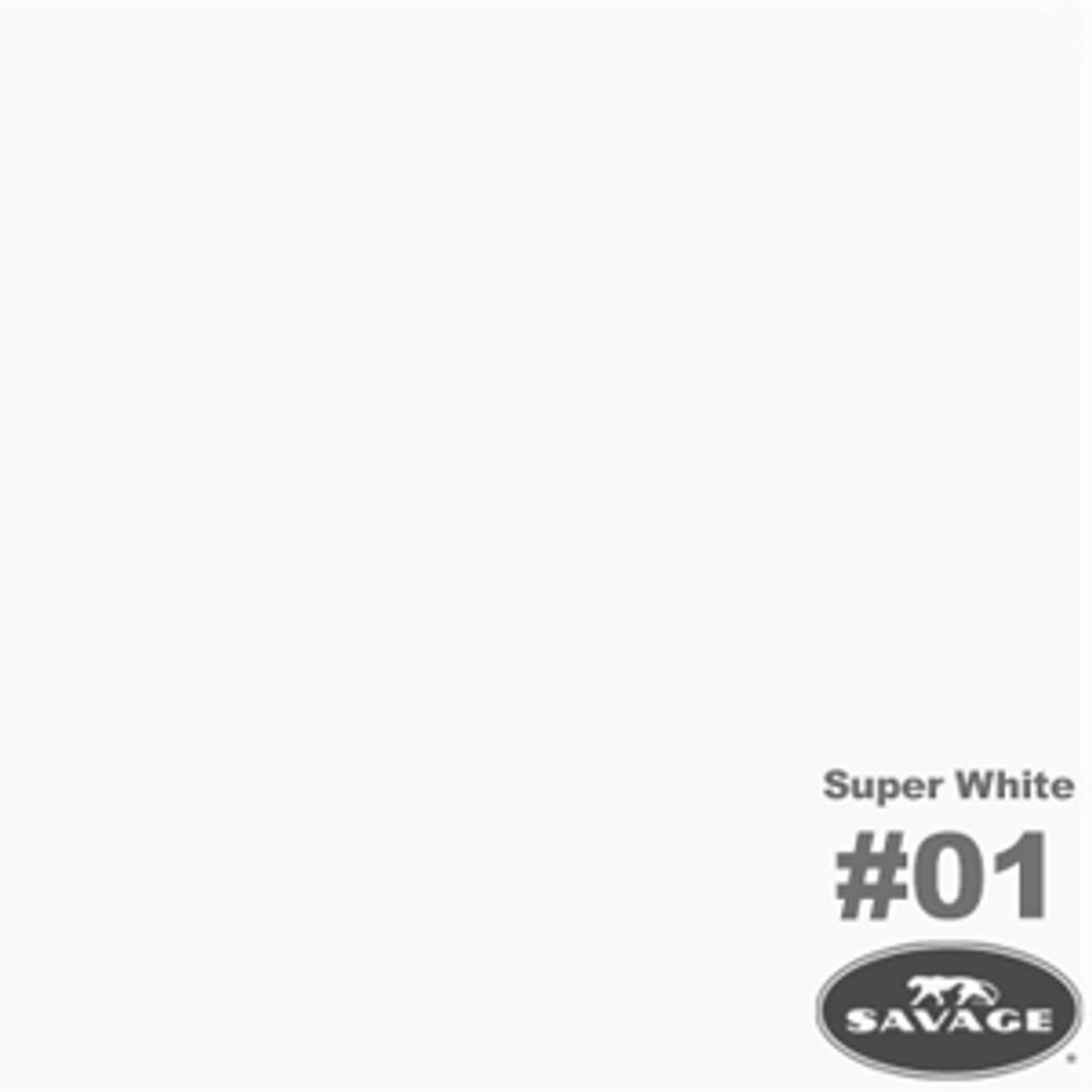 "Savage Background Paper 107"" x 12 yards Super White"
