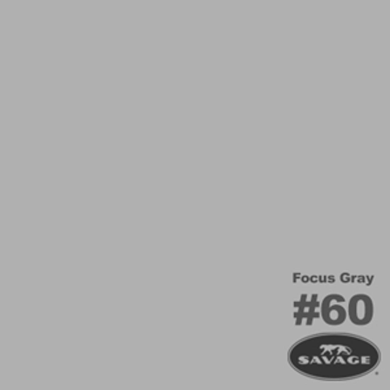 "Savage Background Paper 107"" x 12 yards Focus Gray"