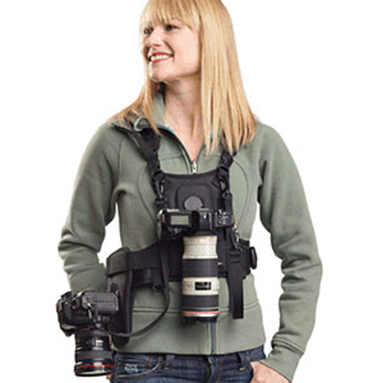Cotton Carrier Vest 1/2 Camera with Side Holster