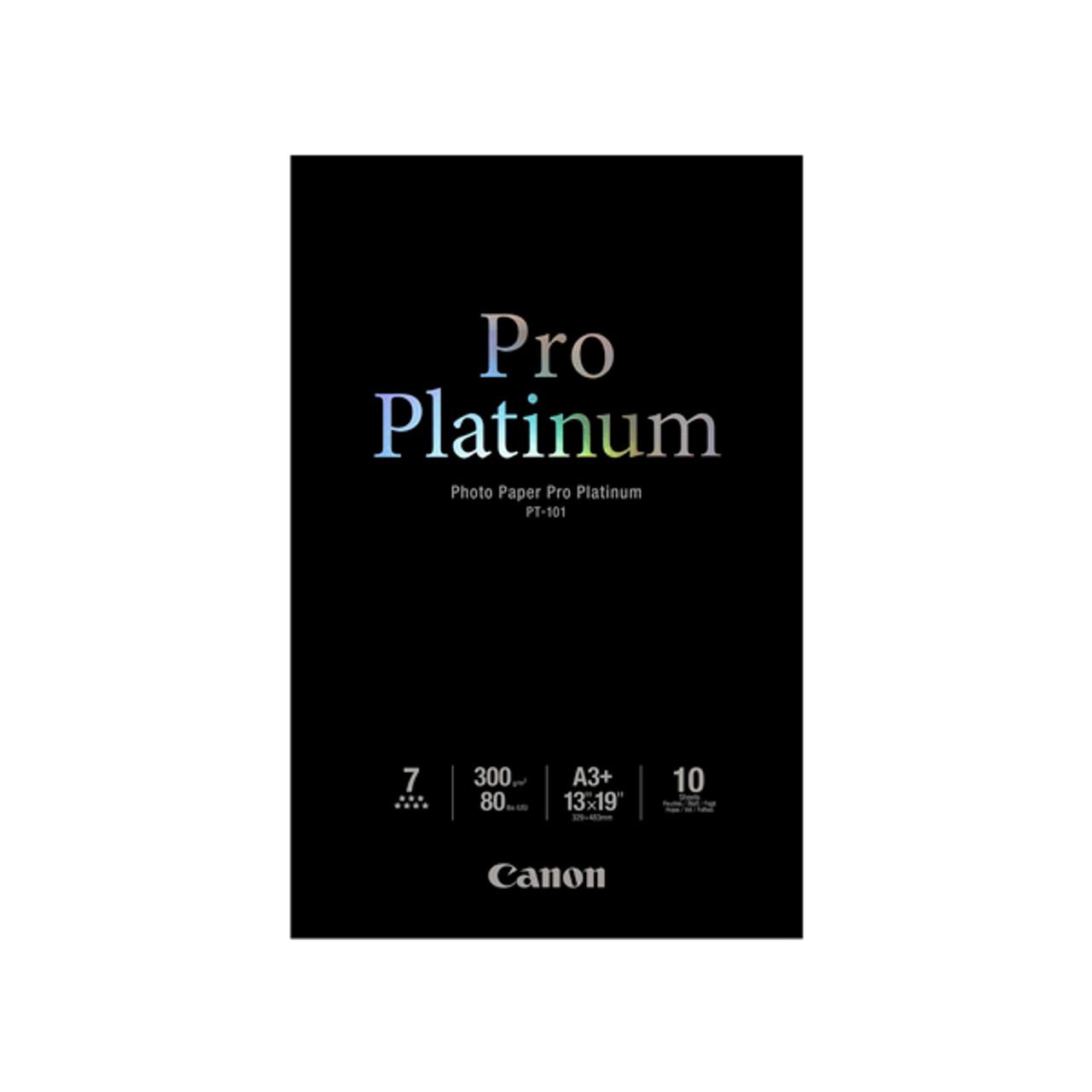 """Canon PT-101 13"""" x 19"""" Photo Paper Pro Platinum (10 sheets)"""