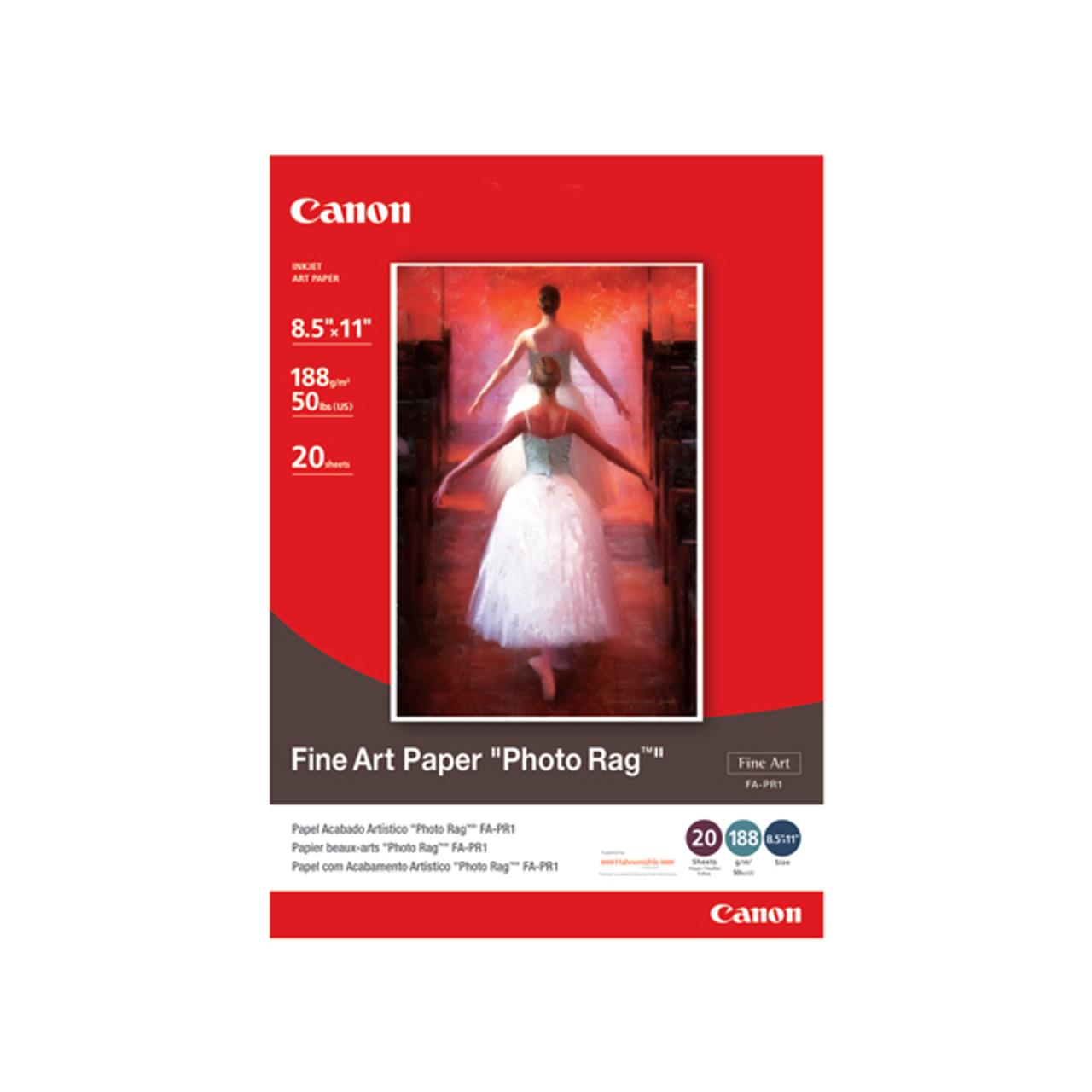 """Canon FA-PR1 8.5"""" x 11"""" Fine Art """"Photo Rag"""" Paper (20 sheets)"""