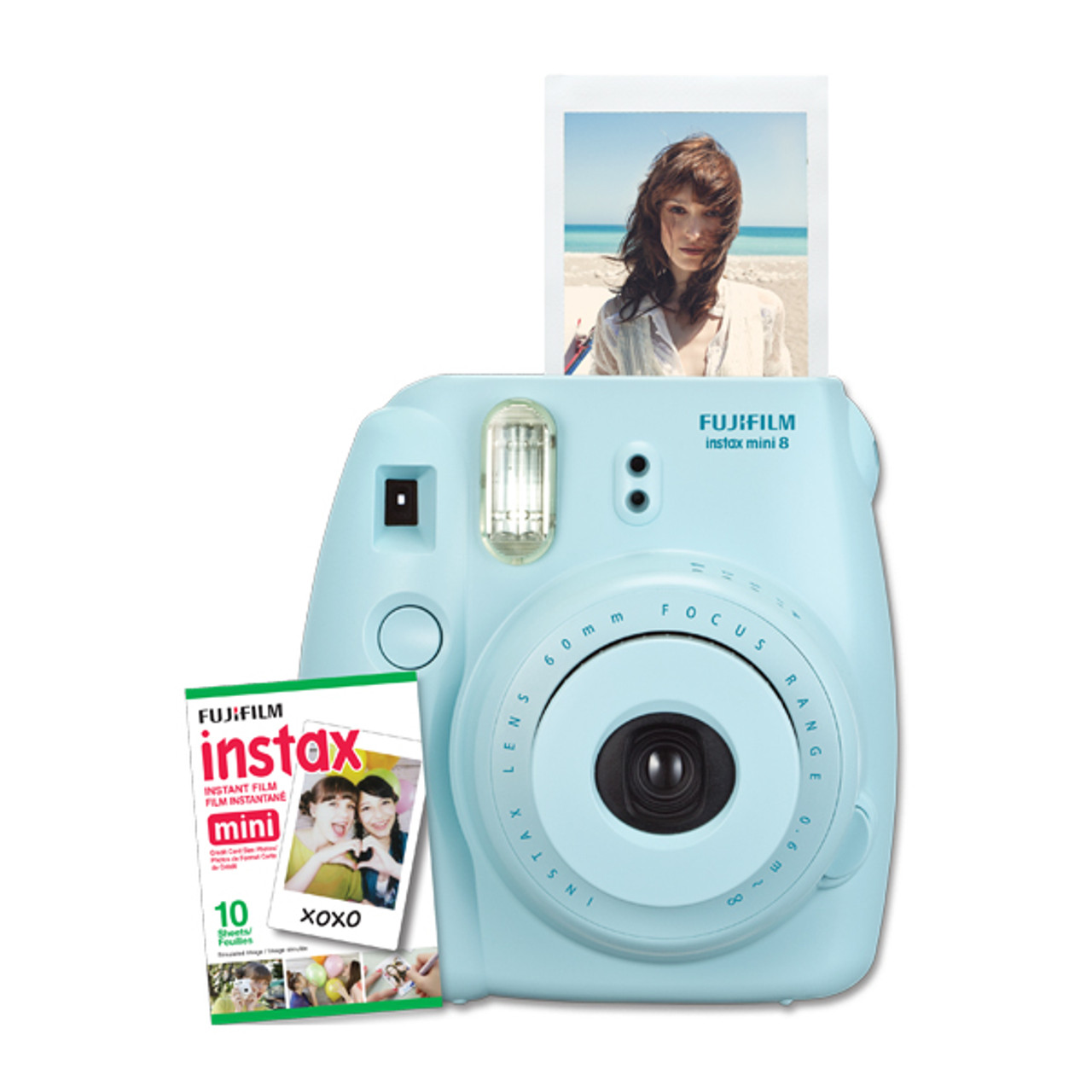 Fujifilm Instax Mini 8 w/10 Exposure Film - Blue