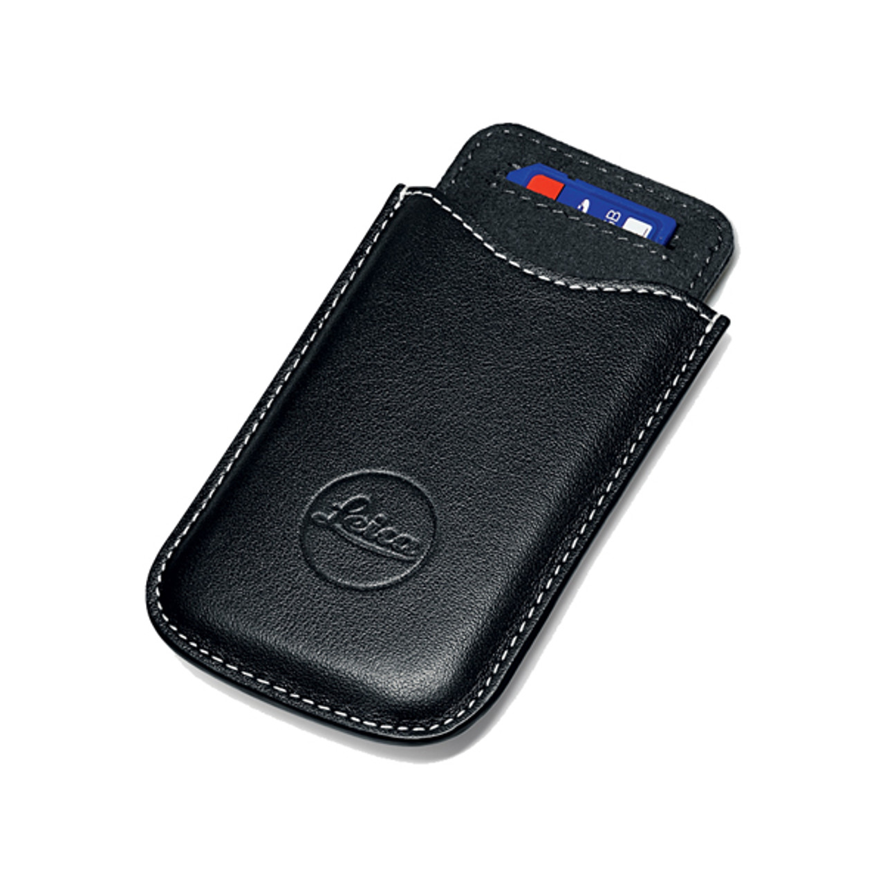 Leica SD and Credit Card Holder Black Leather