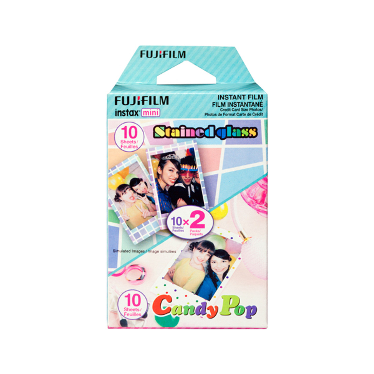 Fujifilm Instax Mini Film Party Pack StainedGlass & CandyPop (20 Exposures)