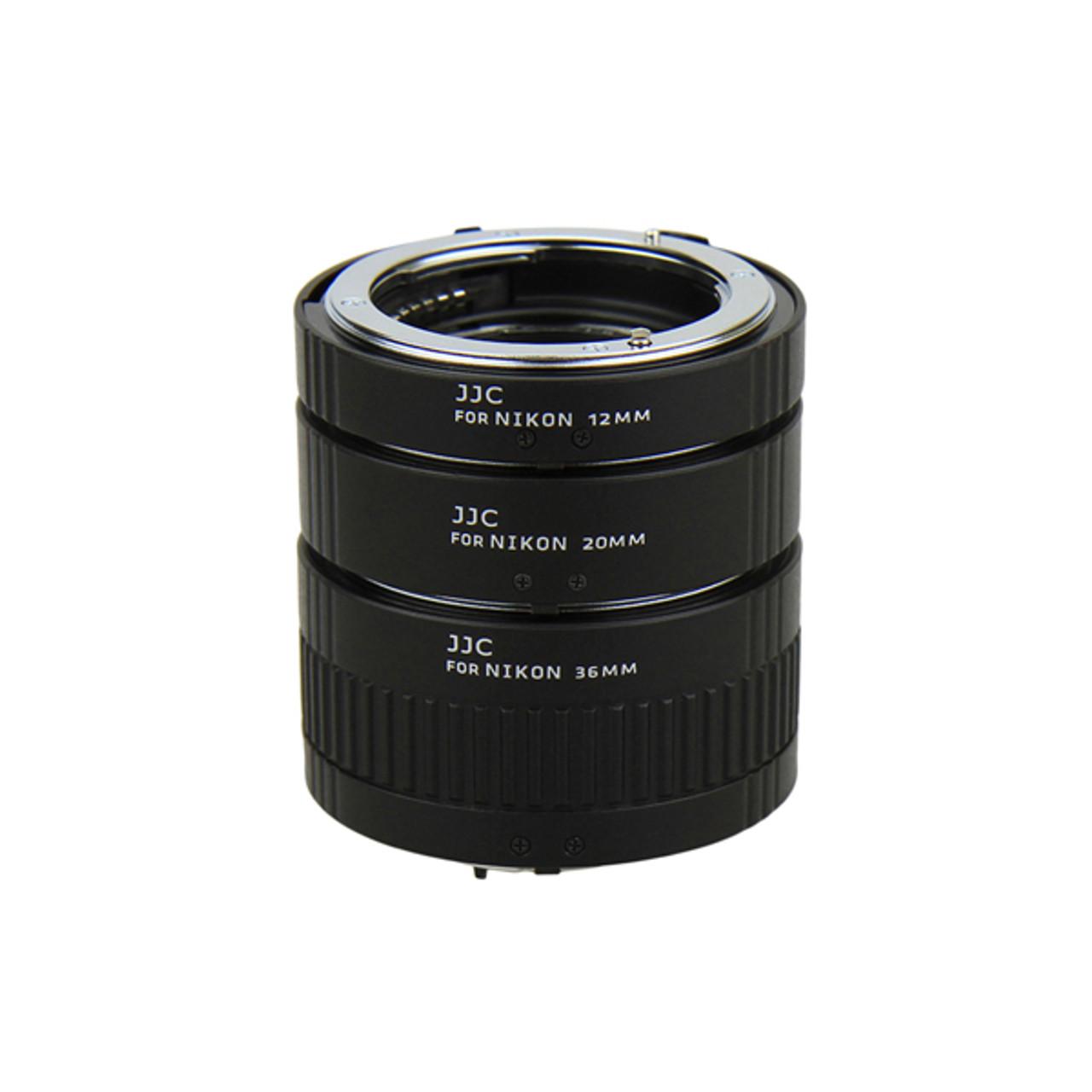 JJC Auto Focus Extension Tube for Nikon F Mount (12mm/20mm/36mm Set)