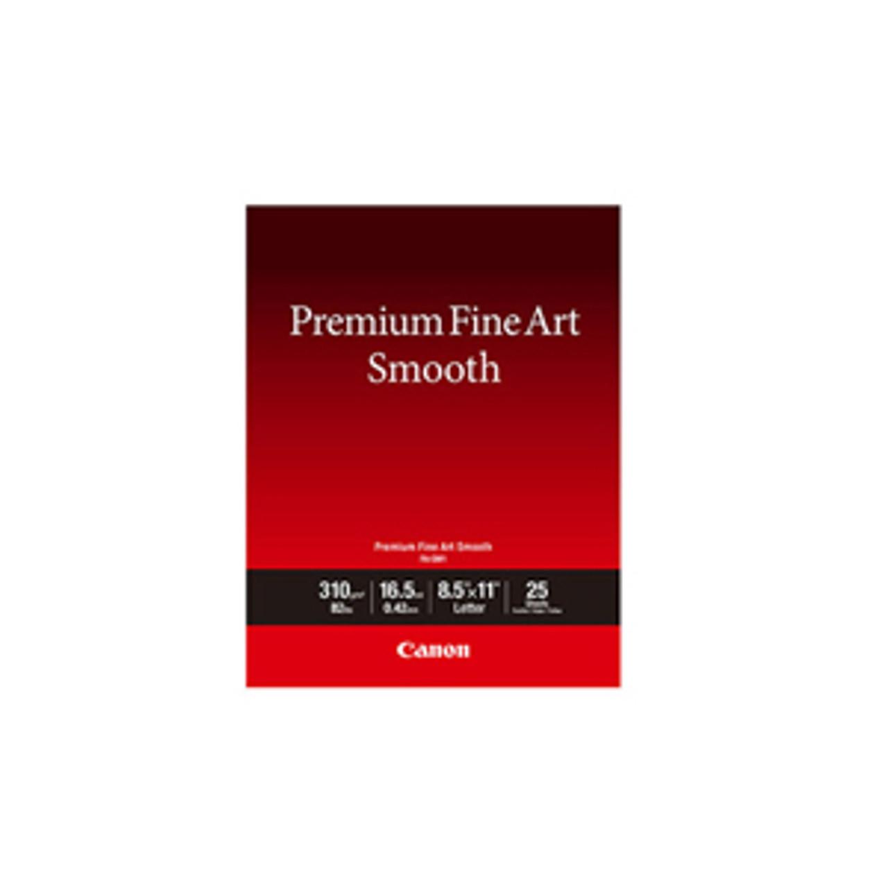 """Canon 8.5"""" x 11"""" Premium Fine Art Smooth Paper"""