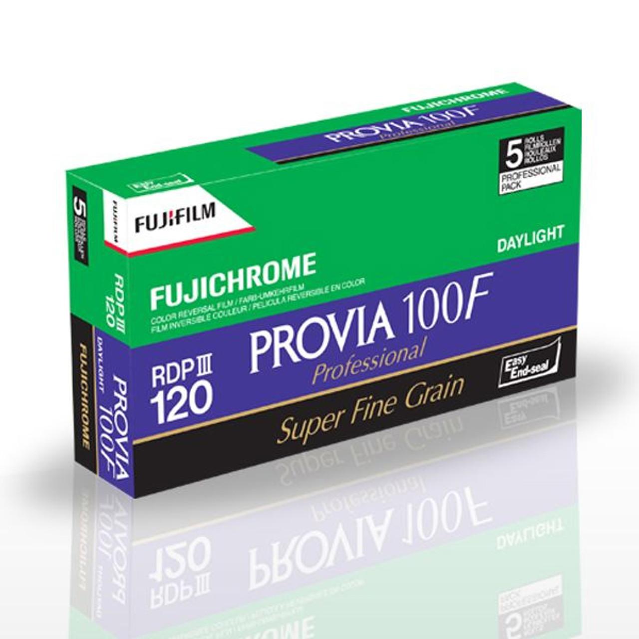 FujiChrome Provia 100F - Daylight 100 ISO Pro Film (B4) (120 - Pro Pack, 5 rolls)