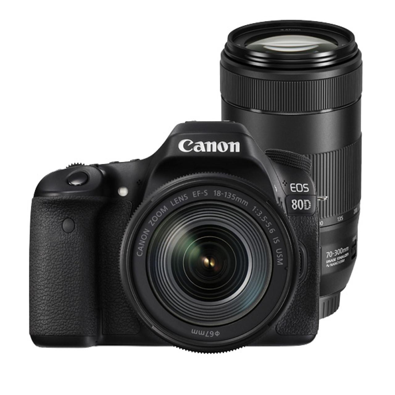 Canon EOS 80D 18-135mm f.5-5.6 IS USM & Canon EF 70-300mm F4-5.6 IS II USM