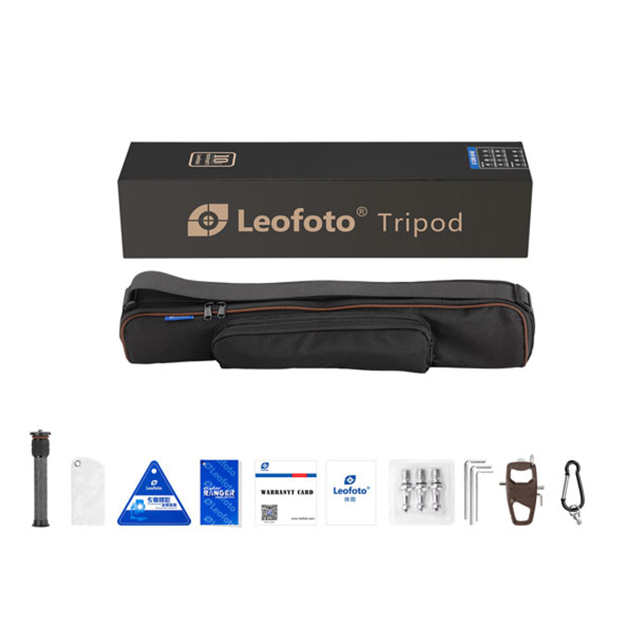 Leofoto LS-284C+LH-30 28mm 4-Section Carbon Fiber with LH-30 Ball Head & Centre Column